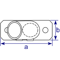 Dimensions Image 3 - 251 - Slope Base Flange (30°- 45°)