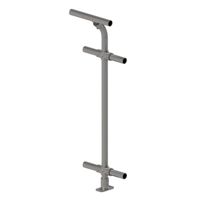 6030 - Cycle Safe DDA Assist Handrail - Inline Top Rail With Standard Mid & Lower Rails